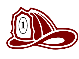 graphic of red fire hat withe number 1 on it